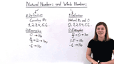 What are Natural and Whole Numbers?
